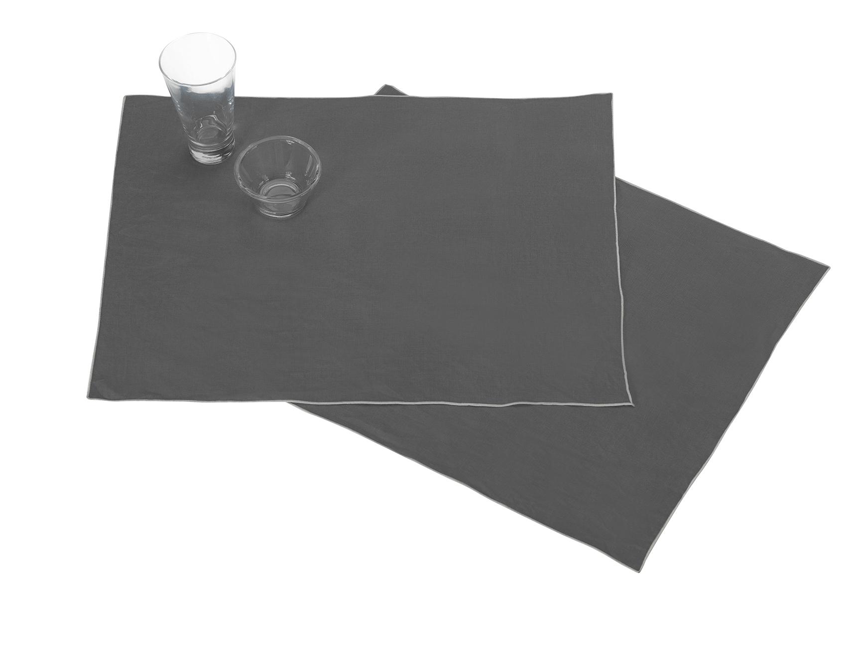 blanc cerise  Blanc CeriseLes 2 sets de table Autour Du Linanthracite-grisclairLin... par LeGuide.com Publicité